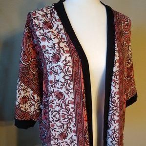 Charlotte Russe Sz XS Kimono Cardigan Open Front